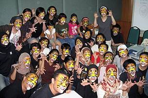 A face-painting event which was held in conjunction with the TX2 campaign