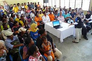 An Orang Asli outreach event was held at RPS Banun, to gain community support to reduce poaching