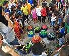 A fun learning activity on conserving our marine turtles during the Tigabu Island Turtle Festival.