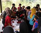 The conference participants were taught on sustainable candle making in one of the workshops. This year the Rainforest Discovery Centre, Sepilok hosted the Eco-Schools Conference.