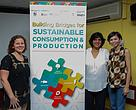 (From left) Ms Tanja Ploetz, representative from WWF-Germany - main sponsor of the conference, Dr Sundari Ramakrishna, Conservation Director and Ms Yasmin Rashid, Chairman of MENGO and President of EcoKnight during the launch of the conference.