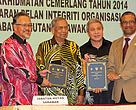 A file photo taken in November 2015 showing the late Sarawak Chief Minister Tan Sri Adenan Satem (centre) witnessing the signing of a Memorandum of Understanding between Forest Department Sarawak and WWF-Malaysia. At second left is State Forest Director Tuan Haji Sapuan Ahmad and WWF-Malaysia CEO Dato' Dr Dionysius Sharma (right).
