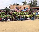 Heart of Borneo Highlands Eco Challenge II participants posing for a group photo with the organizing team, guides and porters at the start of the jungle trekking at Long Pa' Sia' this morning (July 21).