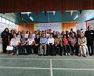 Participants and winners posing for a group photo with their programme facilitators and judges, as well as  invited guests (seated, fifth from left)  Political Secretary to Chief Minister Dato' Robert Laing Anyie and Piasau Assemblyman Dato' Sebastian Ting Chiew Yew.