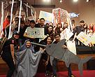Students of INTI working to promote sustainable seafood.
