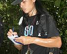 The author, Engelbert Dausip taking notes during a survey of the forest home of Borneo Elephants