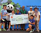 "The winning team of WWF-Malaysia The Water Quest 2016 "" Team Eye Spy"" after receiving their prizes from WWF-Malaysia Chief Executive Officer, Dato' Dr Dionysius Sharma"